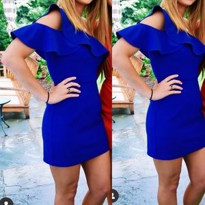 REVOLVE bodycon of the shoulder mini dress